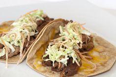 Soft BBQ Pork Tacos / @DJ Foodie / DJFoodie.com