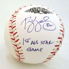 "RYAN VOGELSONG autographed 2011 All-Star Game baseball with ""1st ALL STAR GAME"" inscription. Here's a quick recap of Vogey's career: SF Giants (2000-2001), Pirates (2001-2006), Hanshin Tigers (2007-2008), Orix Buffaloes (2009), SF Giants (2011-present). Yup, it's been a long road."