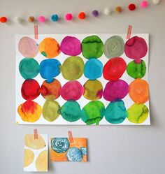 circles, craft, art project, watercolor paintings, watercolor project, kid art, watercolor circl, circl paint, kids