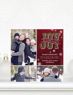 Card design: Snowy Scroll  |  #ChristmasCards