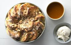 Almond Bread Pudding with Salted Caramel Sauce - Bon Appétit