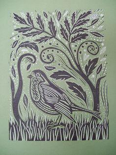 lovely lino print