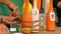 Clinton's Craft Corner: Wine Bottle Ring Toss! #TheChew #DIY #Craft