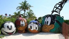 These are some cool items you can take a few pictures in front of on Castaway Cay.