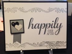 "Wedding card made with the Stampin Up ""big news"" stamp set. Happily ever after. #stampinup"