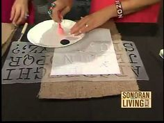 how to stencil on burlap, burlap stencil, stenciling on pillows, diy stenciled burlap pillow, how to stencil burlap, burlap pillows