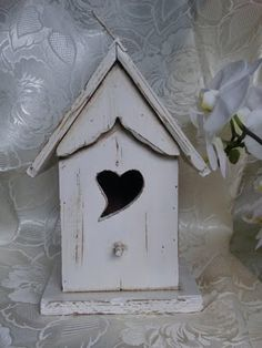 shabby birdhouse with heart...