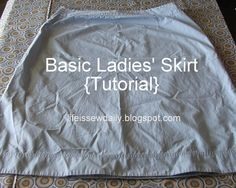 Life is {Sew} Daily: Basic Ladies' Skirt {Tutorial} skirt tutori, tutorials, crafti, skirts, sew idea, basic ladi, daili, basic skirt, ladi skirt