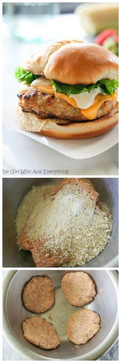Cheddar Ranch Chicken Burgers - an easy recipe the whole family with love