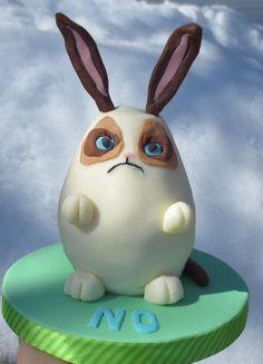 Grumpy Easter Bunny cake