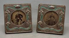 Art Nouveau Silver & Enamel Frames