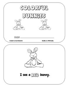 Colorful Bunnies is a great Emergent Reader for Kindergarten and First Grade beginning readers. This book allows students to work on recoginition o...