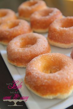 BAKED donuts, really good. I used cake flour instead of all purpose.
