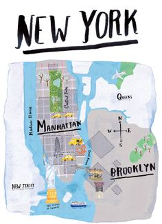 Taxis, pretzels, and Lady Liberty #NYC #maps