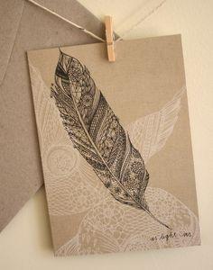 tattoo idea, pattern, birthdays, tattoos, wedding invitations, bohemian weddings, card, feathers, white ink