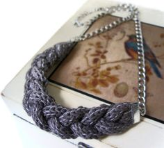 Knit Inspiration: Fall/ Autumn urban knitwear Cocoa Brown Necklace by saroug