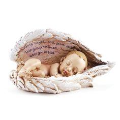 amazoncom, wing unknown, angel wings, sleeping babies, mother day gifts, wing roman, angels, cathol compani, sleep babi