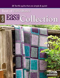 28 EASY quilt projects in one book! All the quilts can be made in one weekend or less. Great for a beginning quilter or for a quilt retreat!