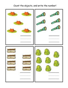 Preschool Printables: Camping camp printabl, preschool printables