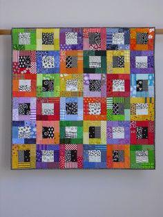 Color Blocks wall quilt via Etsy