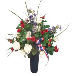 Patriotic Cemetery Flowers          Nanz and Kraft Florist