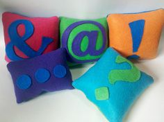 Pillow Talk series type pillows. These would be funny in my office!