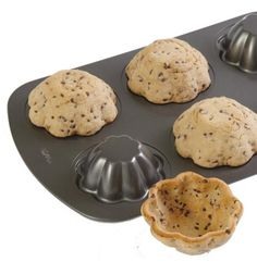 Turn the pan upside down and make cookie bowls. I would put ice cream in the middle.