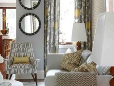 decor, mirror, sarah richardson, living rooms, pattern