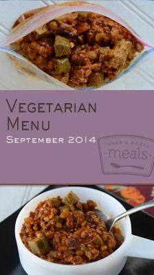 Vegetarian September 2014 Menu