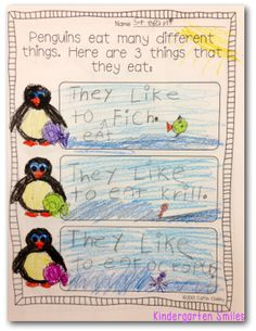 All About Penguins writing!