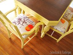 Re-foaming and Reupholstering Dining Chairs {Sawdust and Embryos}