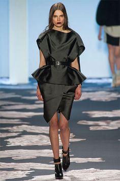 Vera Wang Fall 2013: Tuxedo Dress