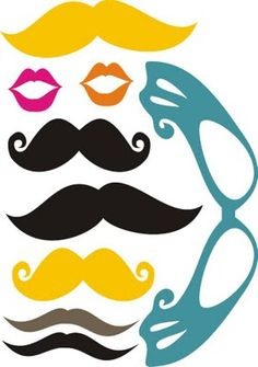 more mustaches & lips - free printable