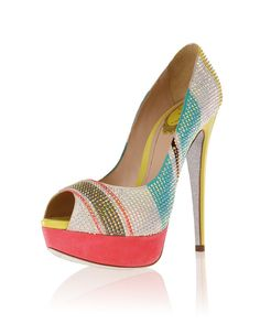 Really cute, can go with so much.  #womens fashion #peep toe #heels