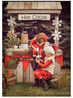 { Hot Chocolate Stand } @ Gramma & Grampies House for Christmas Vacation?!! lol!