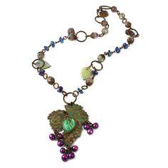 Midnight Vineyard Necklace by Wendy Mullane