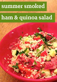 Summer Smoked Ham and Quinoa Salad