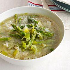 Asparagus and Rice Soup Recipe - Soup Recipes - Asparagus Recipes - Country Living