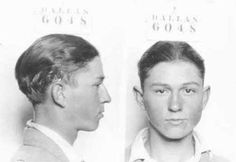 mug shots of a young Clyde Barrow