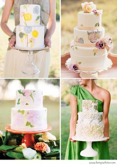 Pretty Painted Cakes