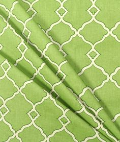 Waverly Chippendale Fretwork Grass Fabric