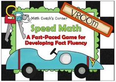 Math Coach's Corner: Speed Math.  FREEBIE! Make fact fluency practice fun with this engaging game that incorporates all four operations! Great for small group instruction also. File includes colorful cards, a score sheet, and an example of how a hand is played.