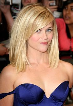 Reese Witherspoon....long bangs. Love the cut @Brittany Horton Ailman this is a cute cut!