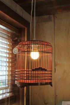 Vintage Birdcage Upcycled Light Fixture but a fancier one for diningroom?
