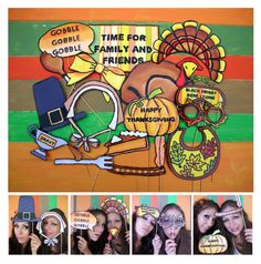 festive Thanksgiving photo booth props - perfect for your Thanksgiving dinner with family and friends. $14.99, via Etsy.
