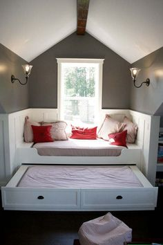 guest bed, attic bedrooms, kid rooms, reading nooks, attic rooms, guest rooms, trundle beds, window seats, bedroom designs