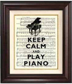 Keep Calm and Play Piano #beatgirl #music #piano #play #practice #practicing #classicalmusic