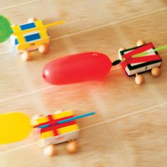 Balloon-propelled Soap Box Dragsters Kid Craft