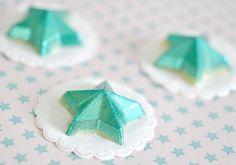 Glittered chocolate stars