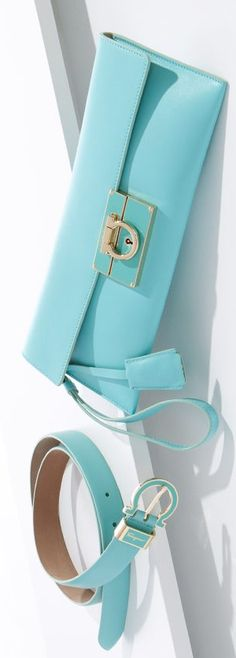 salvatore ferragamo, turquoise blue, purs, accessori, tiffany blue, clutch, awesom handbag, tote bags, baby blues